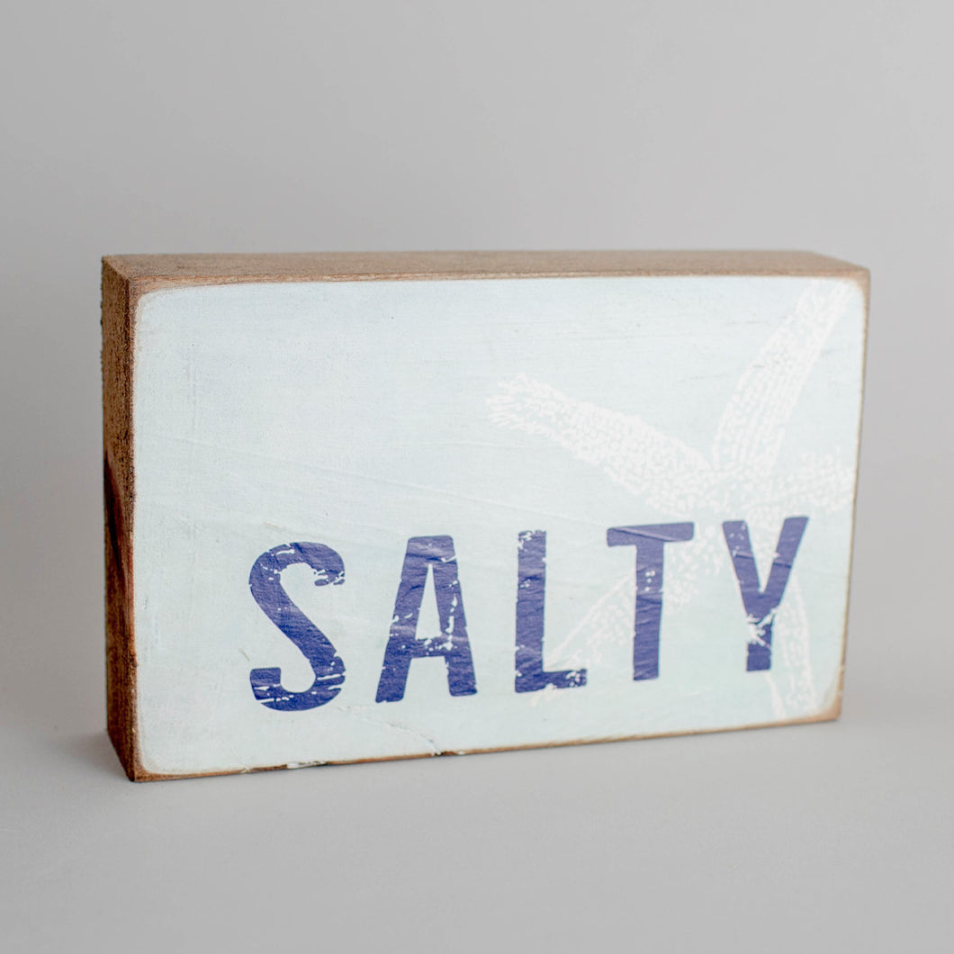 Salty Decorative Wooden Block