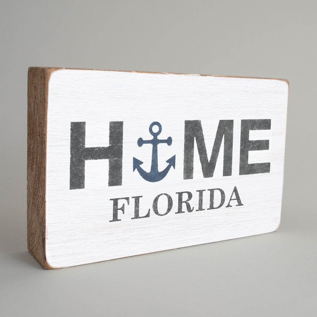 Personalized Home Anchor Decorative Wooden Block