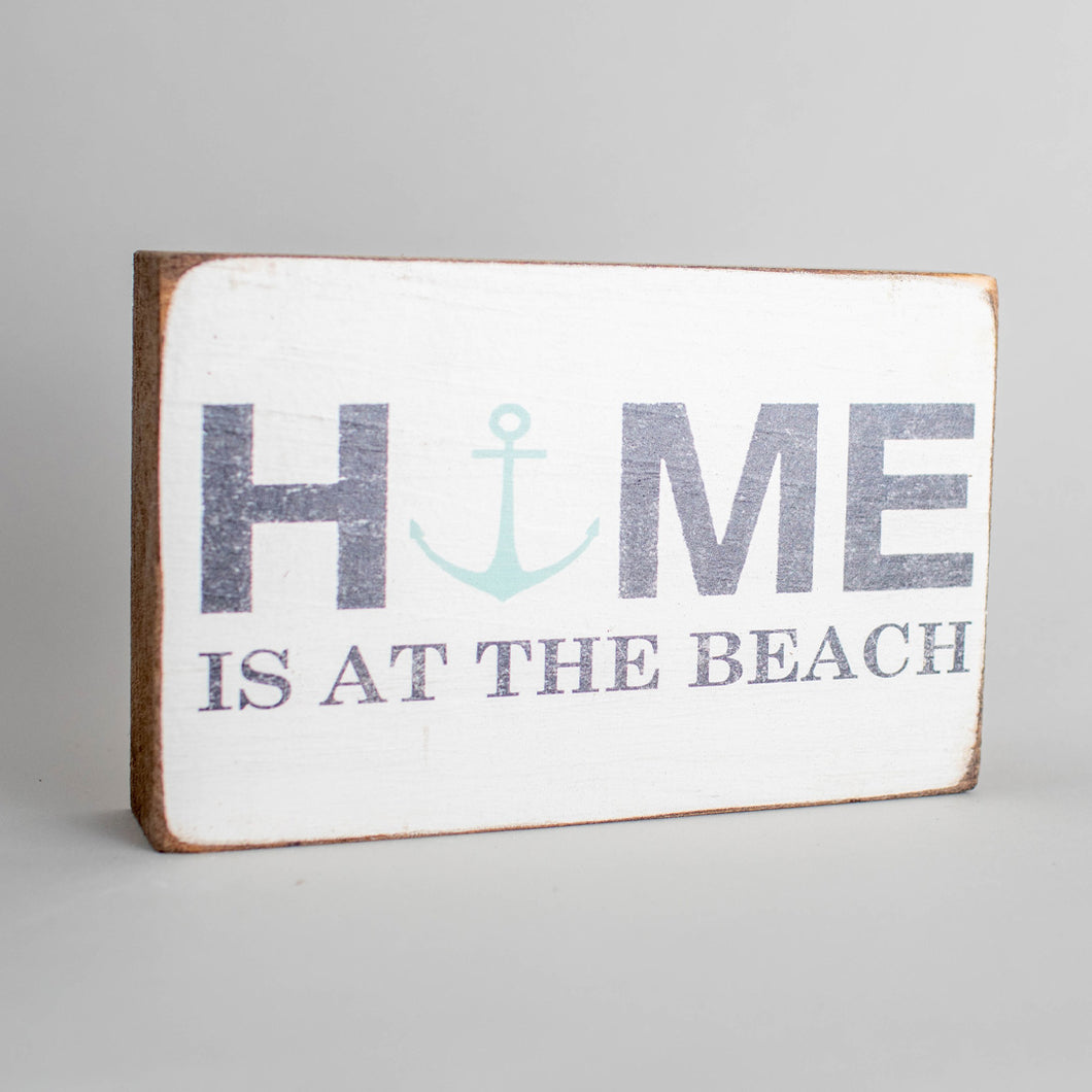 Personalized Home Modern Anchor Decorative Wooden Block