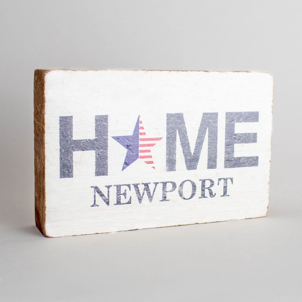 Personalized American Star Decorative Wooden Block