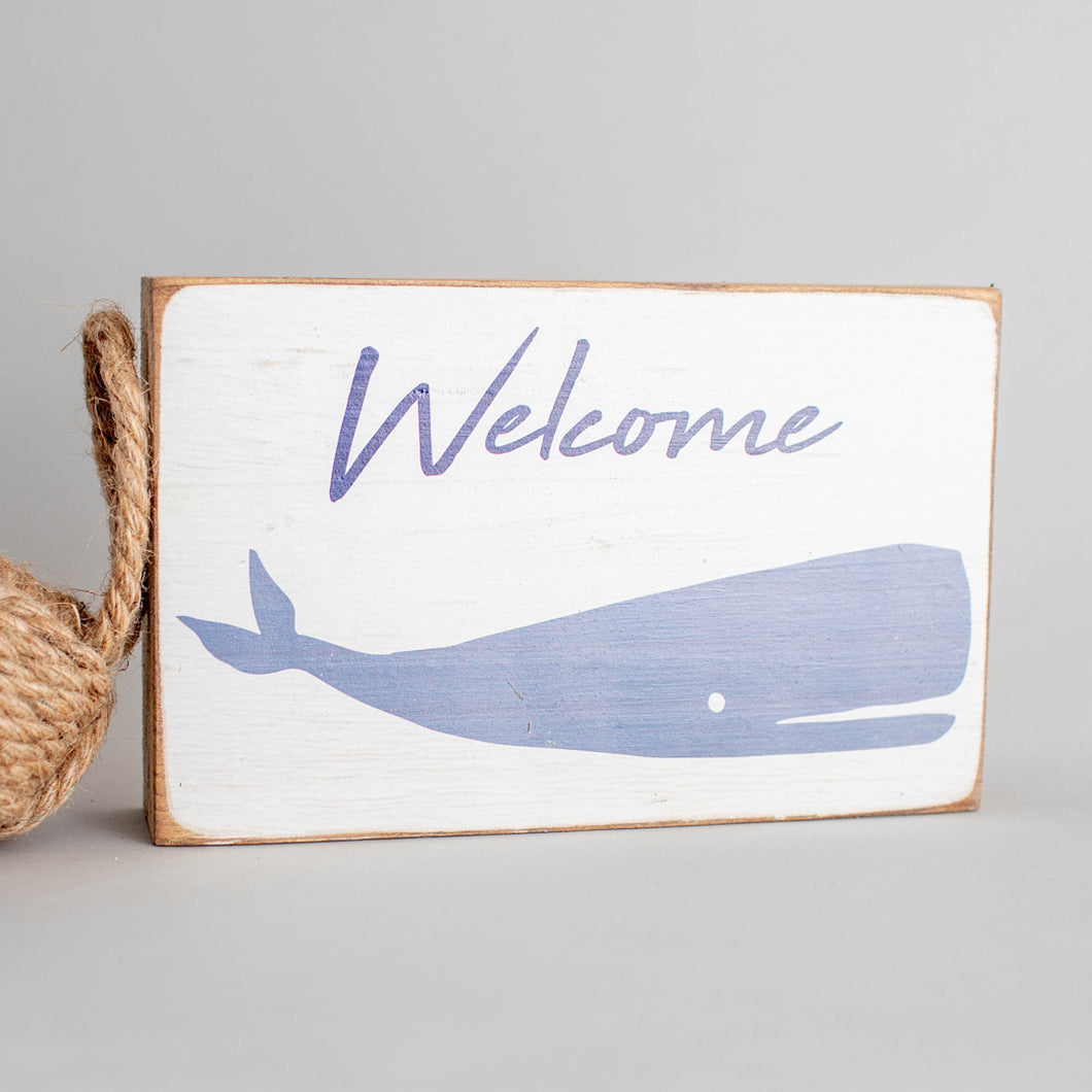 Personalized Whale Decorative Wooden Block