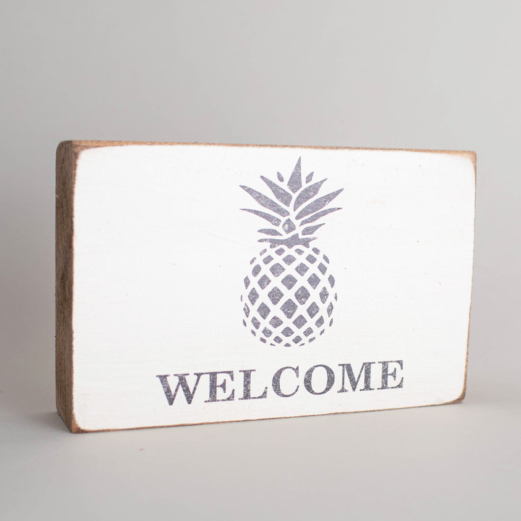Personalized Pineapple Decorative Wooden Block