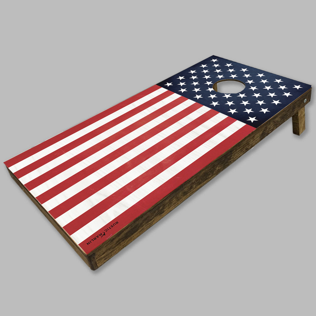 Vertical 50 Stars Flag Cornhole Game Set