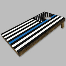 Load image into Gallery viewer, Thin Blue Line Flag Cornhole Game Set