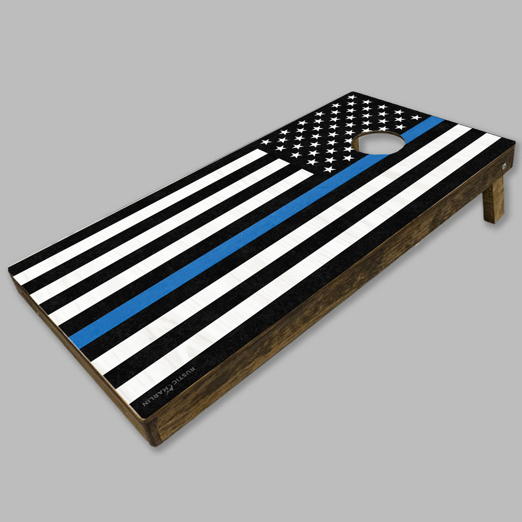 Thin Blue Line Flag Cornhole Game Set