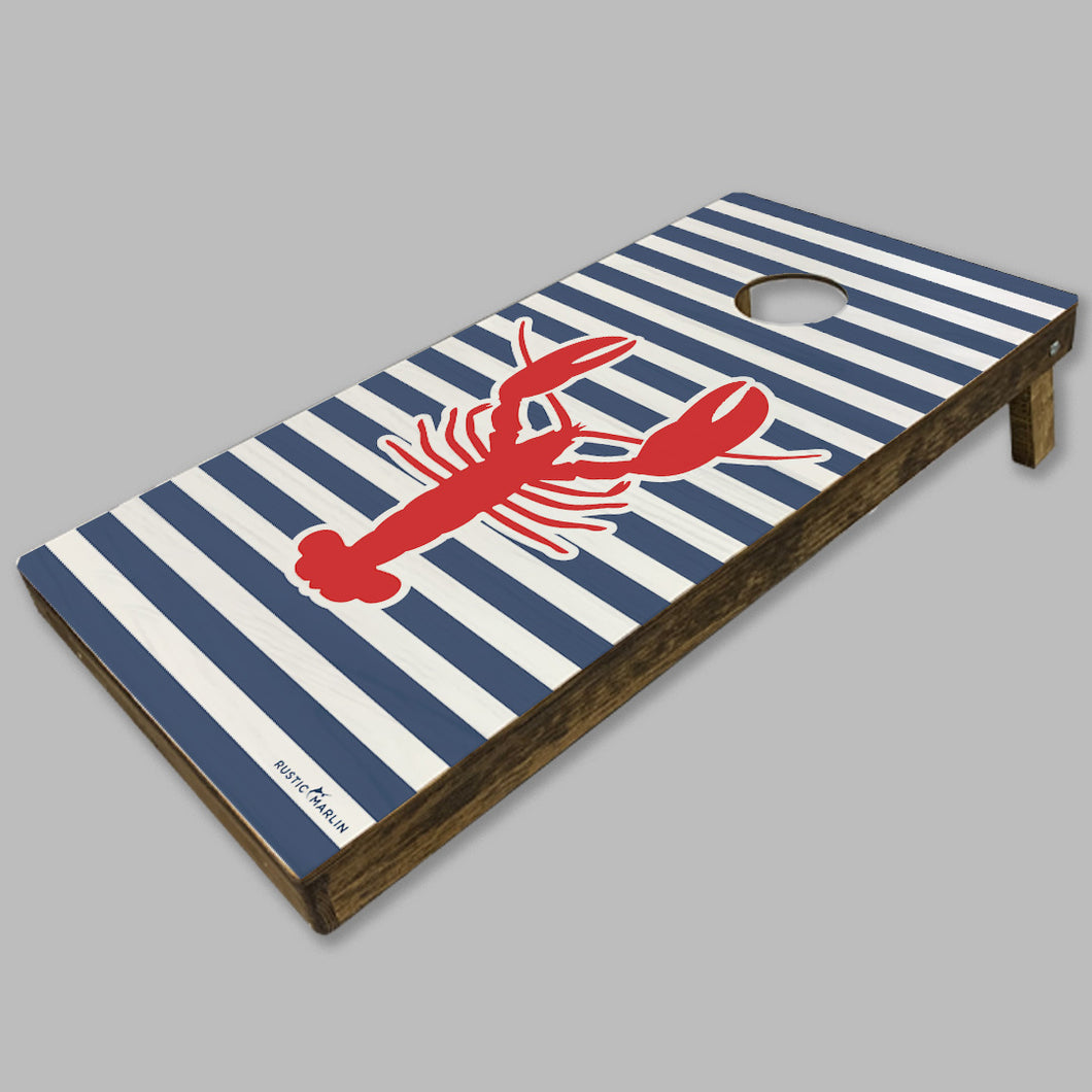 Lobster Stripe Cornhole Set