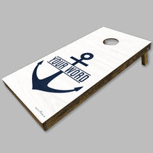 Load image into Gallery viewer, Personalized Anchor Cornhole Game Set