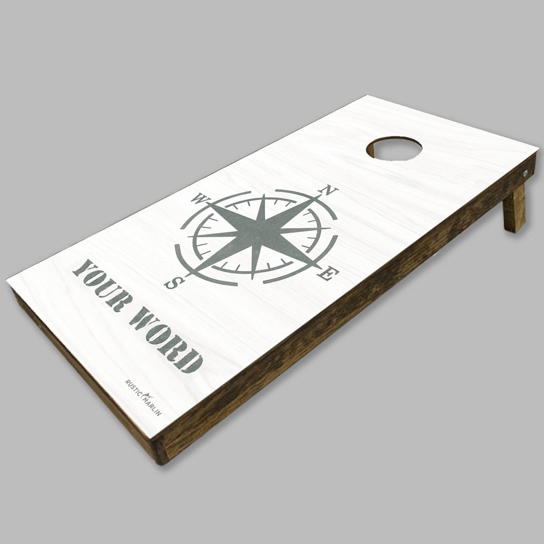 Personalized Compass Cornhole Game Set