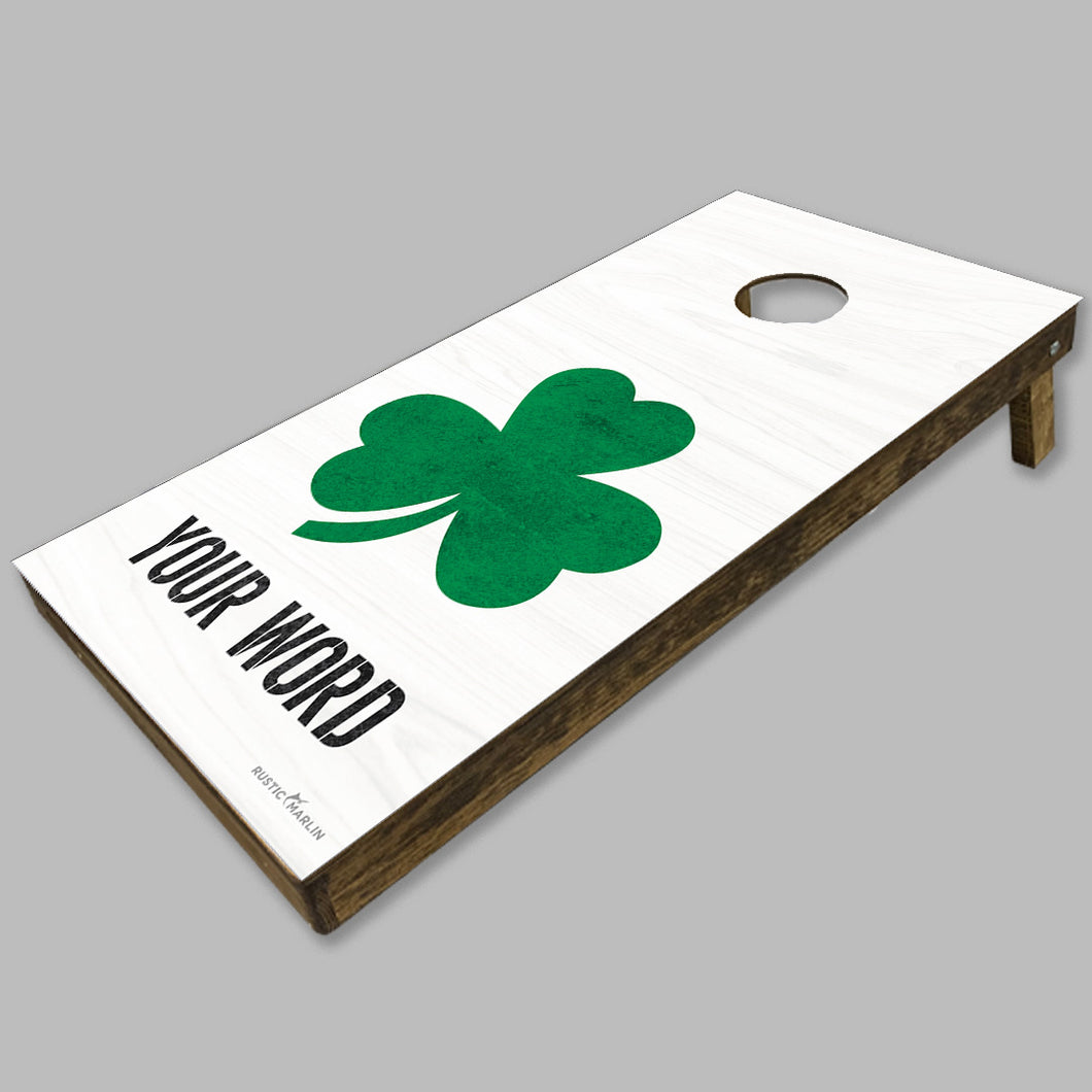 Personalized Shamrock Cornhole Game Set