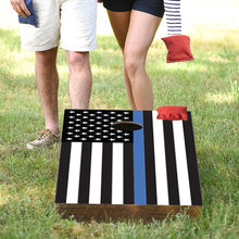 Load image into Gallery viewer, Thin Blue Line Flag Cornhole Game Set By Rustic Marlin Home Décor