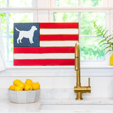 Load image into Gallery viewer, Dog Wooden American Flag