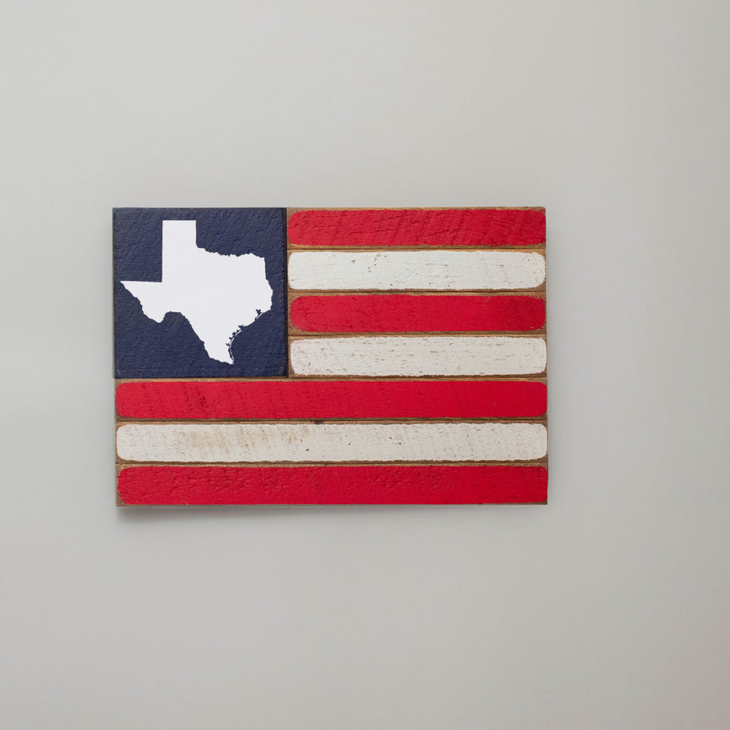 State Wooden American Flag