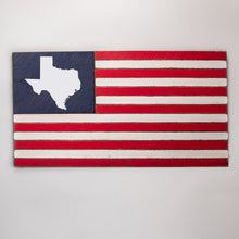Load image into Gallery viewer, State Wooden American Flag