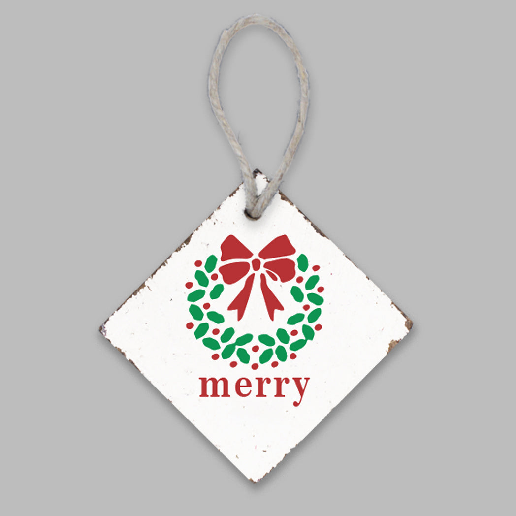 Merry Wreath Ornament