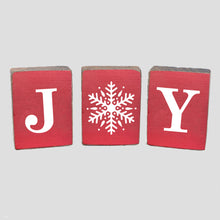 Load image into Gallery viewer, Joy Snowflake Rustic Block Bundle