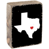 Personalized Hometown State Rustic Block By Rustic Marlin Home Décor
