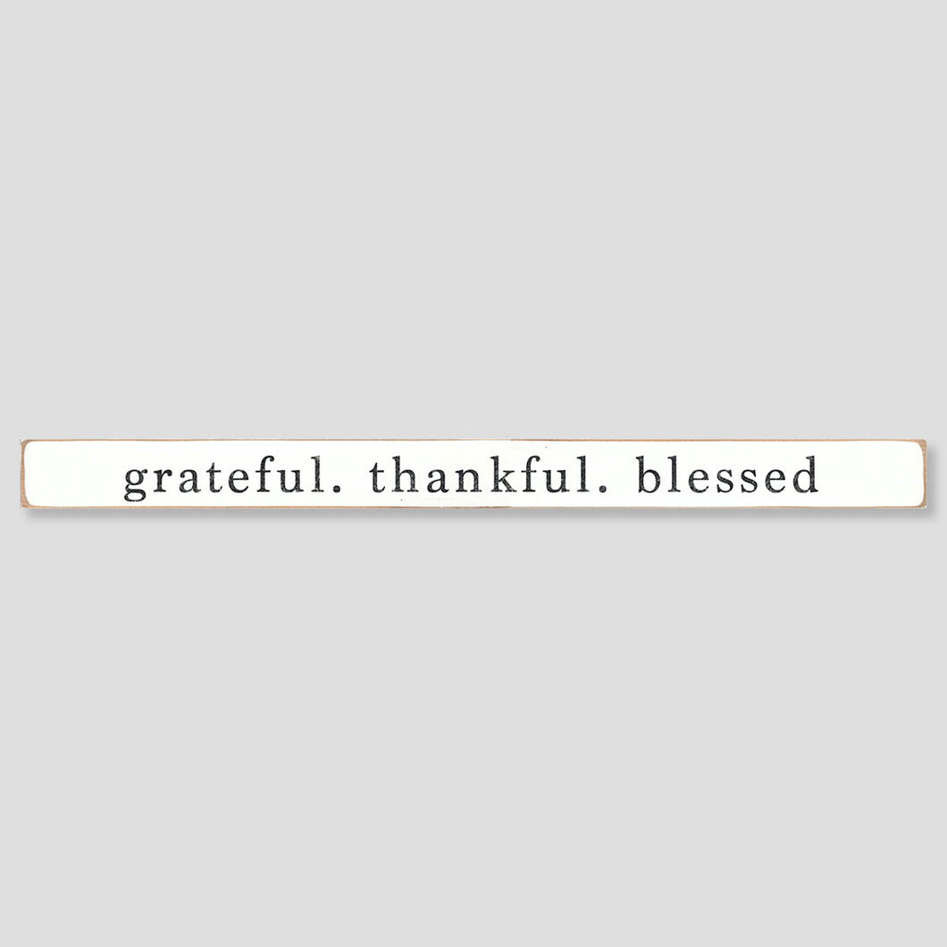 Grateful. Thankful. Blessed Barn Wood Sign