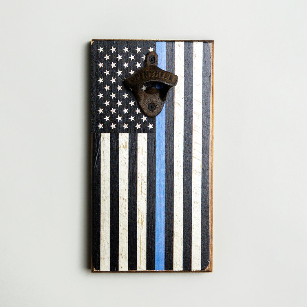 Blue Line Flag Bottle Opener