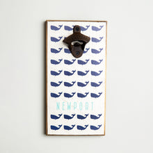 Load image into Gallery viewer, Personalized Repeating Whales Bottle Opener