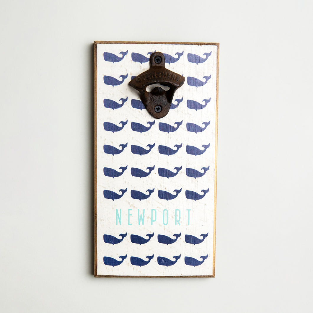 Personalized Repeating Whales Bottle Opener