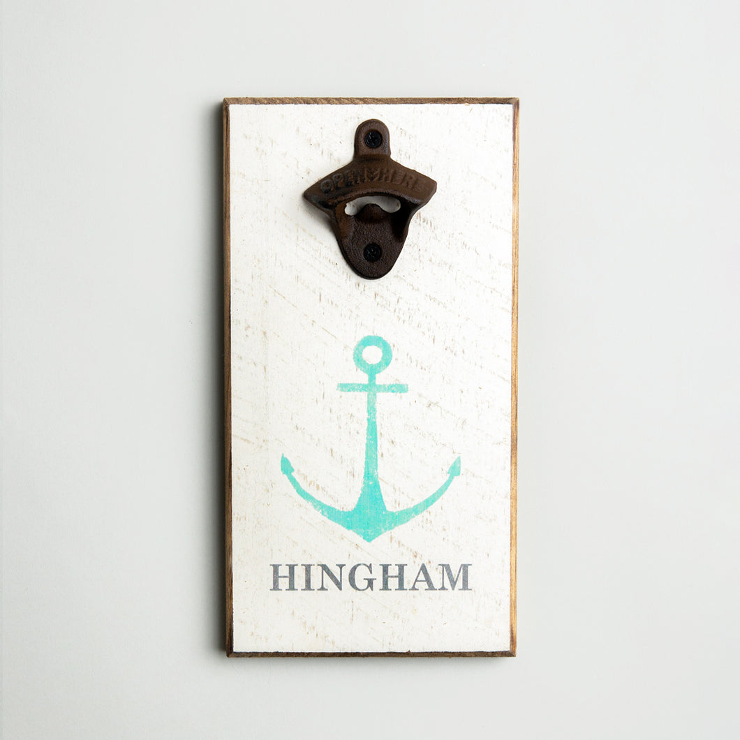 Personalized Modern Anchor Bottle Opener