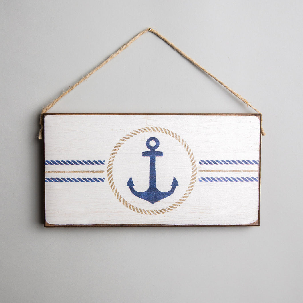 Circle Anchor Twine Hanging Sign