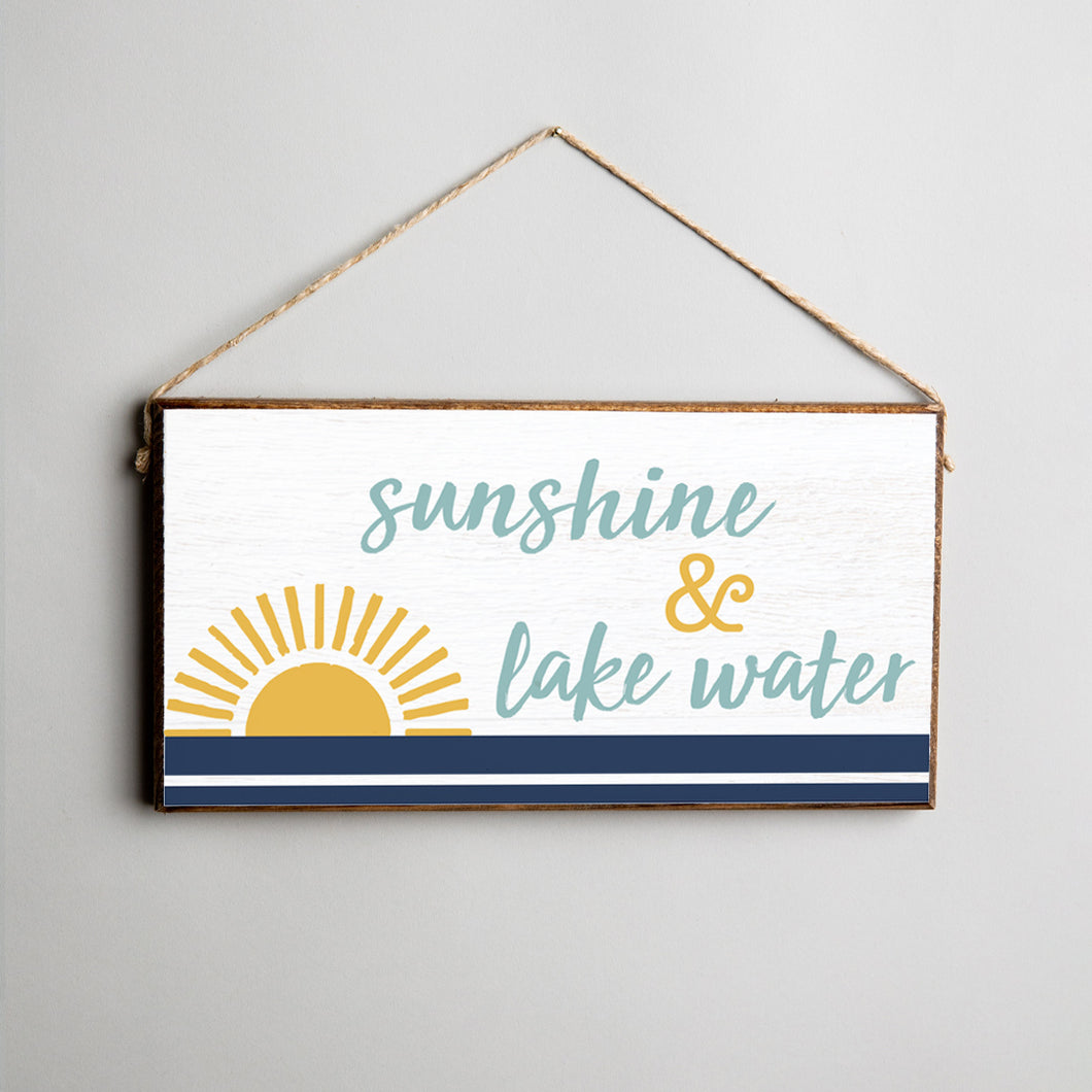 Sunshine + Lake Water Twine Hanging Sign