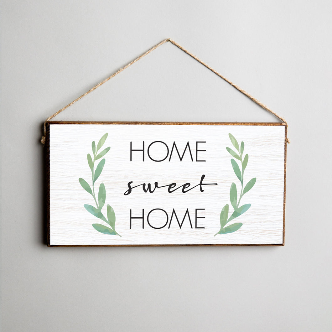 Home Sweet Home Twine Hanging Sign