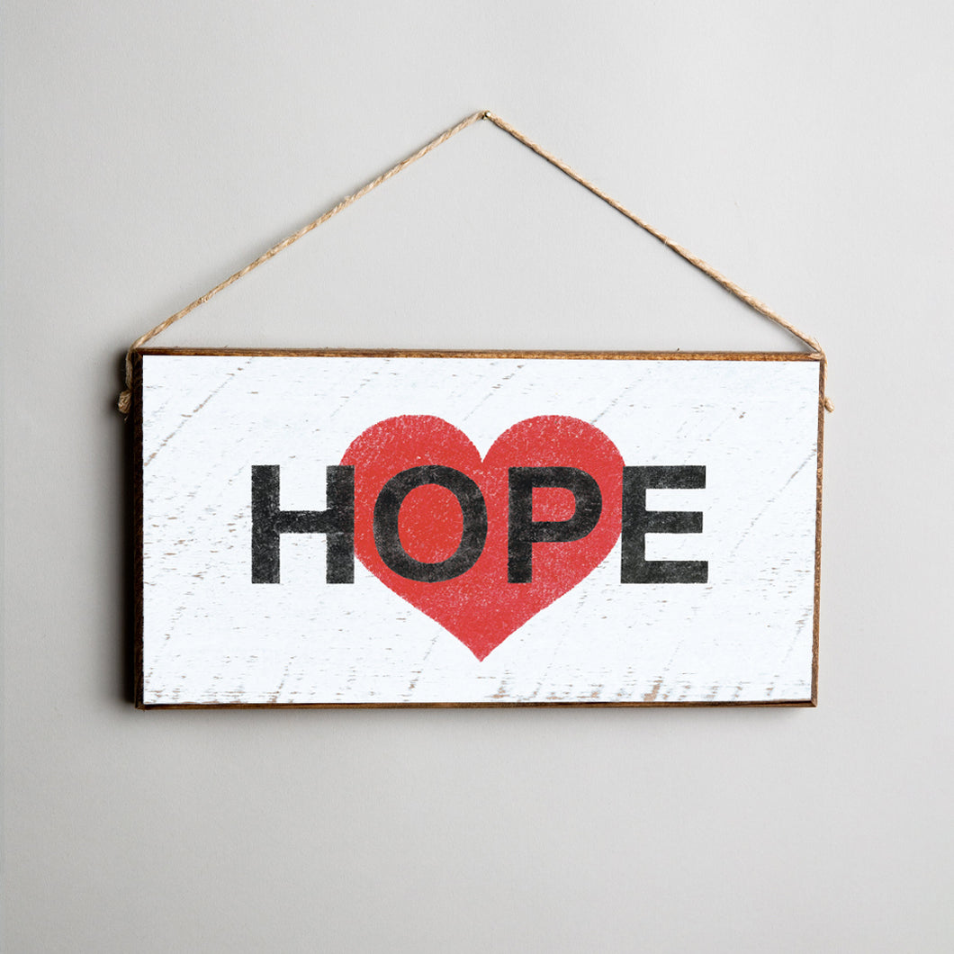 Hope Twine Hanging Sign