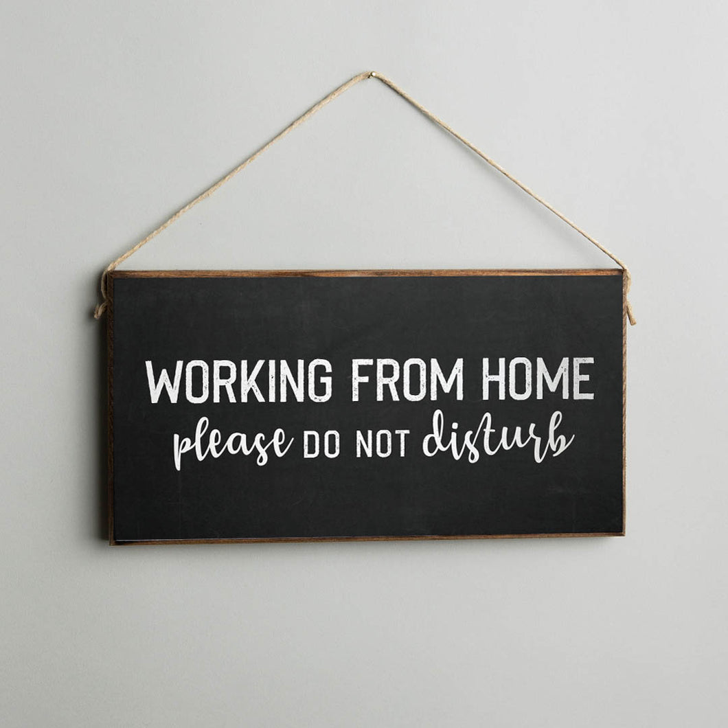 Working From Home Twine Hanging Sign