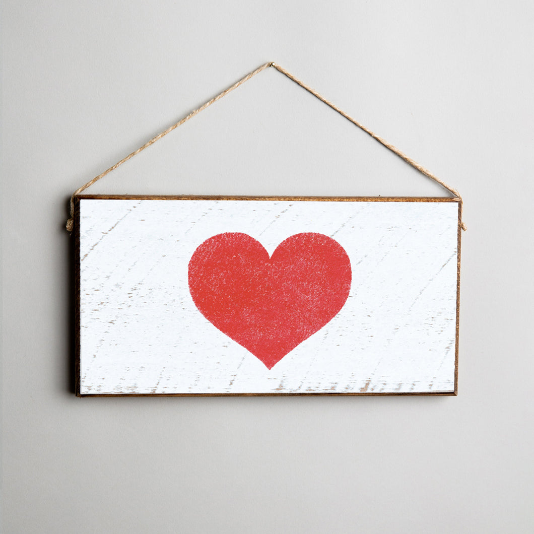 Red Heart Twine Hanging Sign
