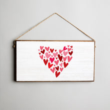 Load image into Gallery viewer, Mosaic Heart Twine Hanging Sign