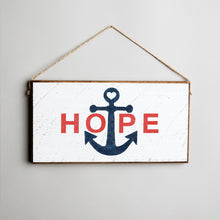 Load image into Gallery viewer, Hope Anchor Twine Hanging Sign
