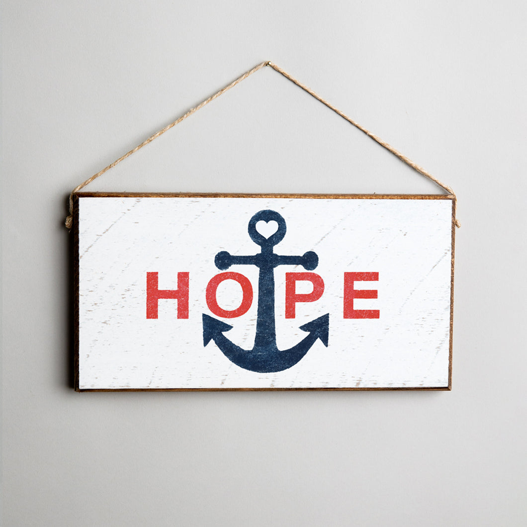 Hope Anchor Twine Hanging Sign