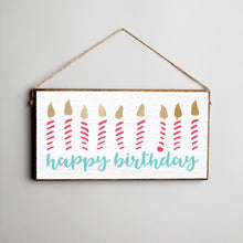 Load image into Gallery viewer, Happy Birthday Twine Hanging Sign