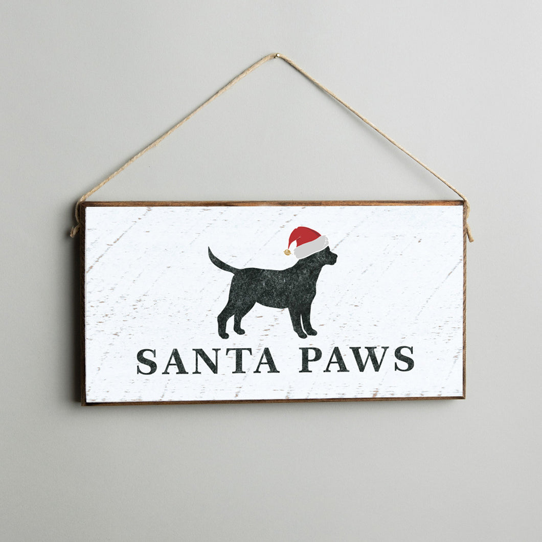 Santa Paws Twine Hanging Sign