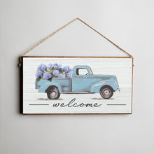 Load image into Gallery viewer, Hydrangea Truck Twine Hanging Sign