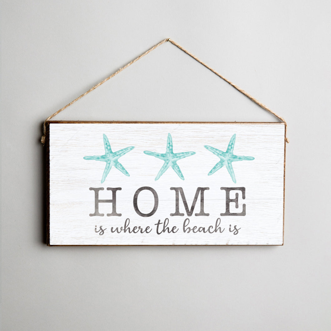 Three Watercolor Starfish Twine Hanging Sign