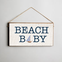 Load image into Gallery viewer, Beach Baby Twine Hanging Sign