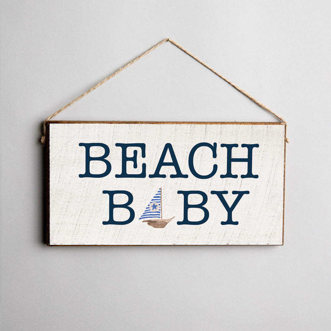 Beach Baby Twine Hanging Sign