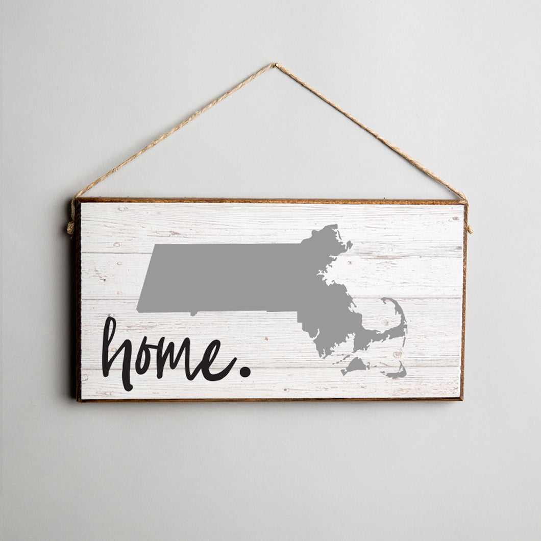 Personalized Home State Twine Hanging Sign