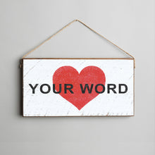 Load image into Gallery viewer, Personalized Heart Twine Hanging Sign