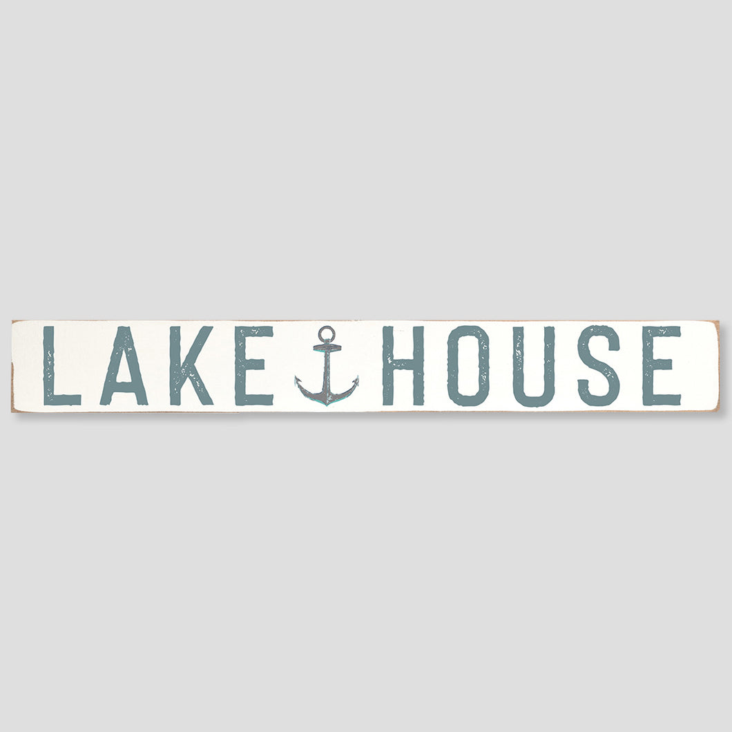 Lake House Barn Wood Sign