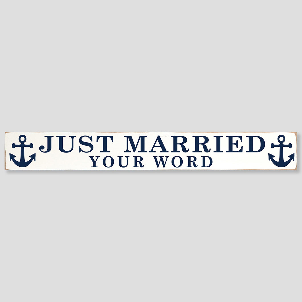 Personalized Just Married Barn Wood Sign