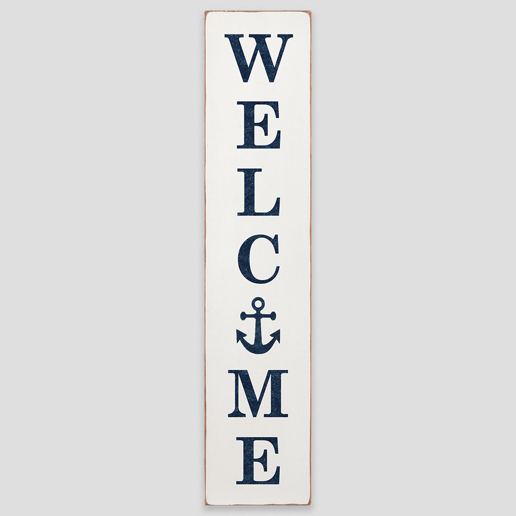 Welcome Anchor Barn Wood Sign