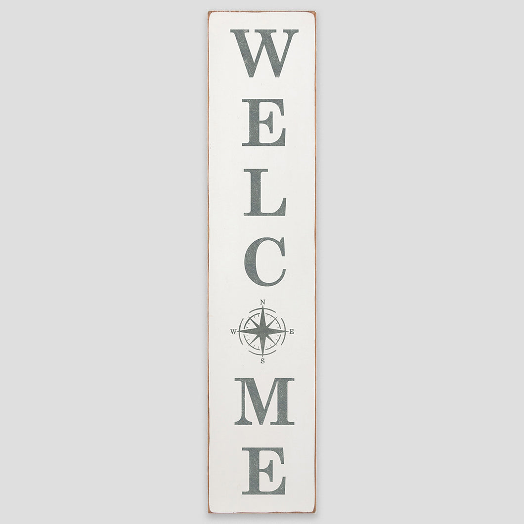 Welcome Compass Barn Wood Sign