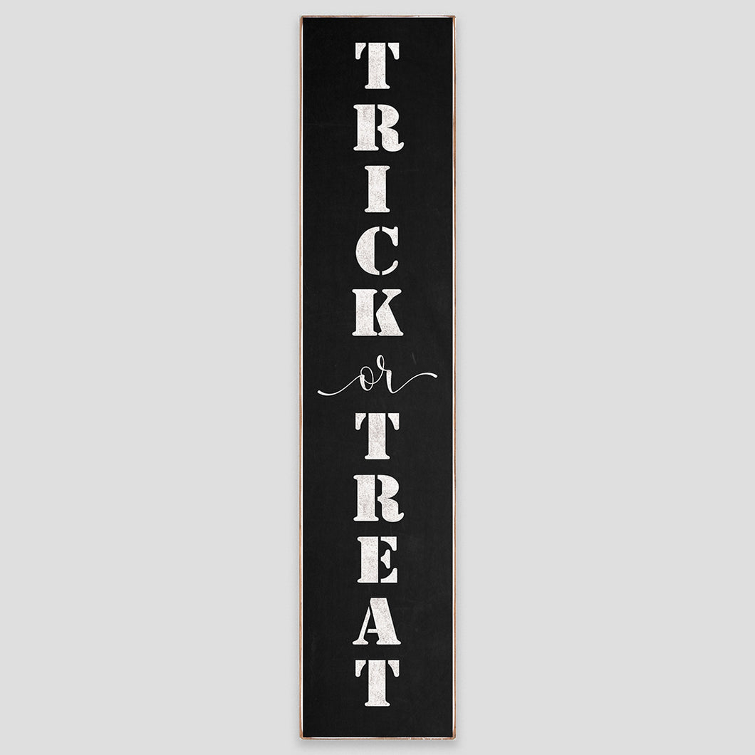 Trick Or Treat Barn Wood Sign