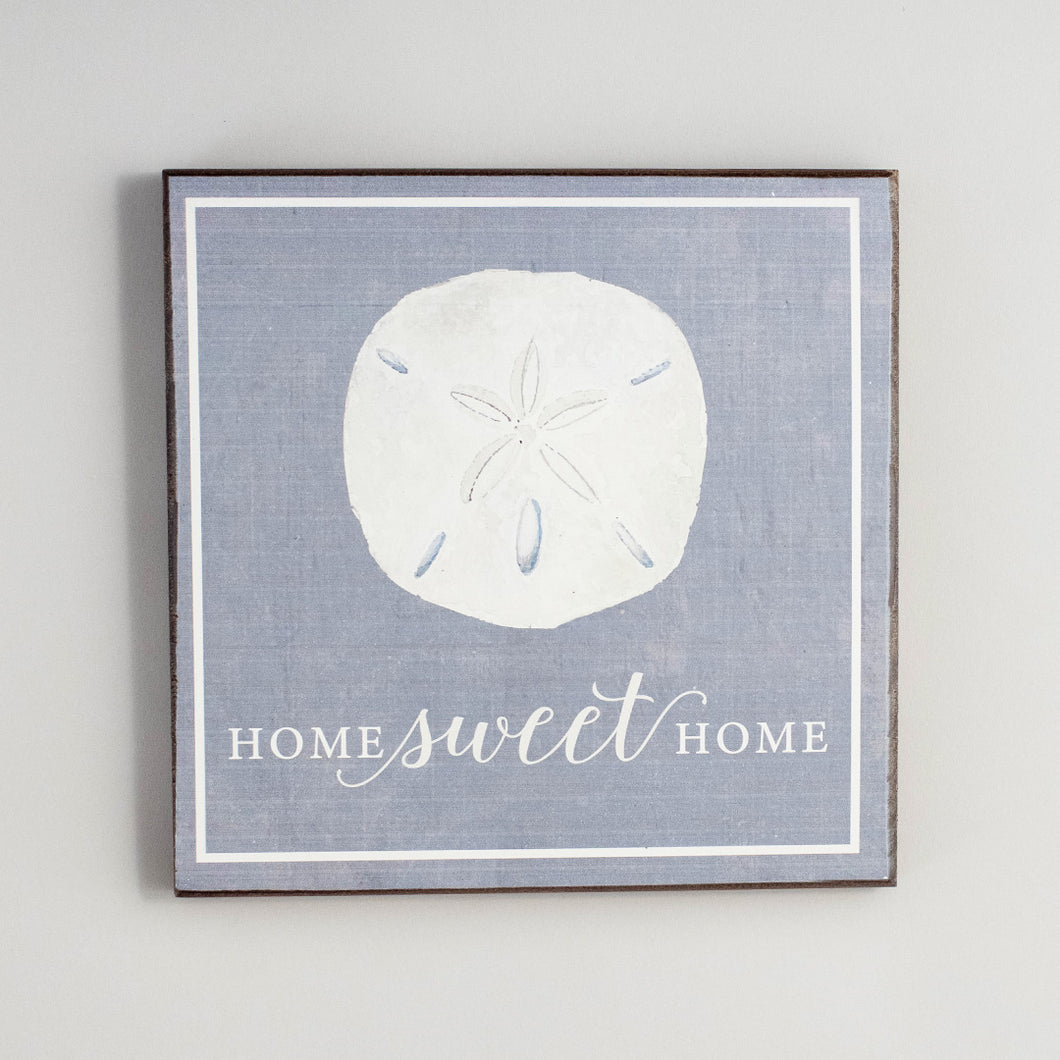 Home Sweet Home Sand Dollar Rustic Wood Sign