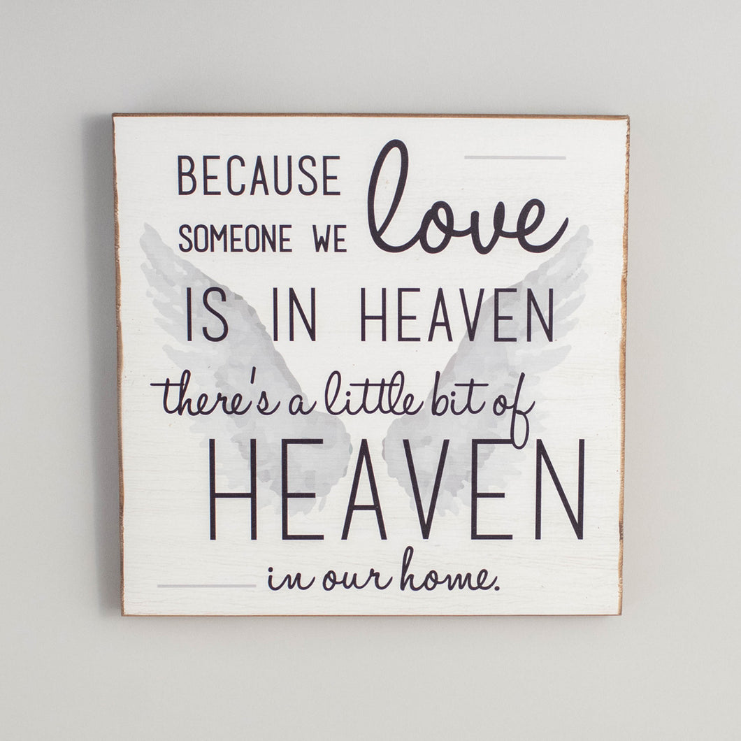 Heaven In Our Home Rustic Wood Sign