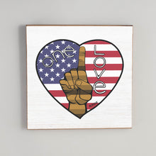 Load image into Gallery viewer, One Love Flag Heart Vintage Square